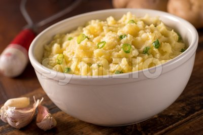 Garlic Mashed Potatoes Stock Photo