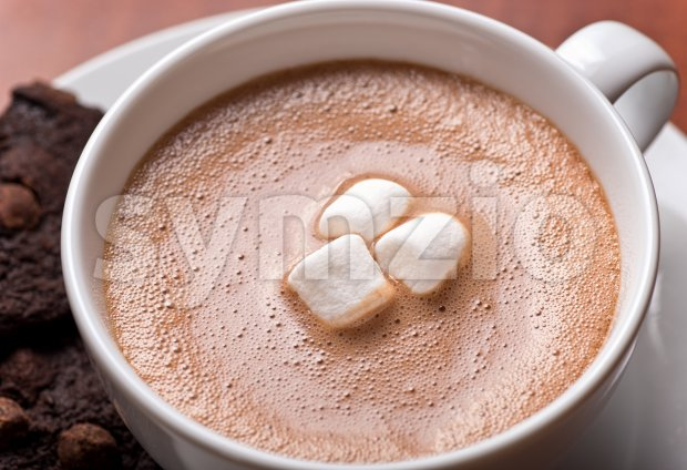 Hot Chocolate Close Up Stock Photo