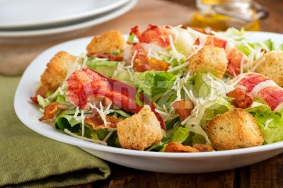 Lobster Caesar Salad Stock Photo