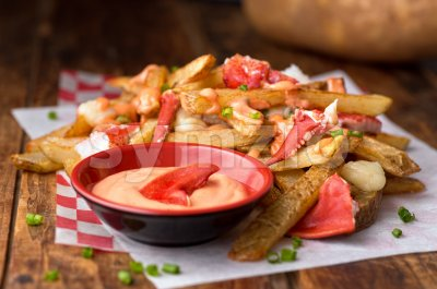 Lobster Poutine Stock Photo