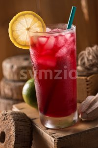 Lunenburg Blueberry Lemonade Stock Photo