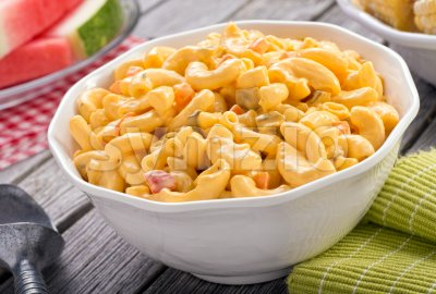 Macaroni and Cheese Salad Stock Photo